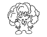 <span class='hidden-xs'>Coloriage de </span>Monsieur brocoli à colorier