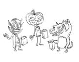 <span class='hidden-xs'>Coloriage de </span>Monsters la chasse aux bonbons à colorier