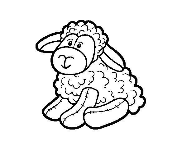 Coloriage de moutons en peluche pour colorier - Mouton en dessin ...