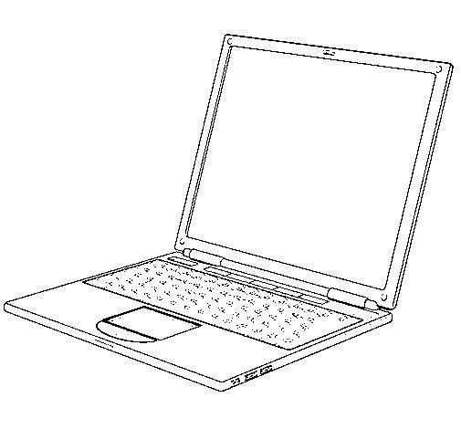 Coloriage de ordinateur portable pour colorier - Ordinateur coloriage ...