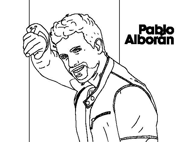 Coloriage de pablo albor n chanteuse pour colorier - Coloriage chanteuse ...