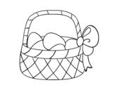 <span class='hidden-xs'>Coloriage de </span>Panier avec oeuf de Pâques à colorier