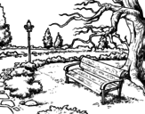 <span class='hidden-xs'>Coloriage de </span>Parc paysager à colorier
