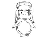 Dibujo de Penguin avec chapeau