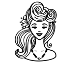 <span class='hidden-xs'>Coloriage de </span>Pin-up Coiffure à colorier