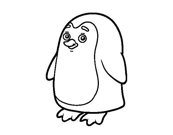 Coloriage de Pingouin antarctique pour Colorier