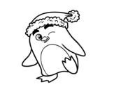 <span class='hidden-xs'>Coloriage de </span>Pingouin avec bonnet de Noël à colorier
