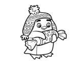 <span class='hidden-xs'>Coloriage de </span>Pingouin avec des bonbon à colorier
