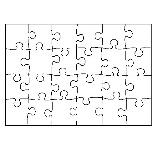 Coloriage de puzzle pour colorier for Puzzle a colorier