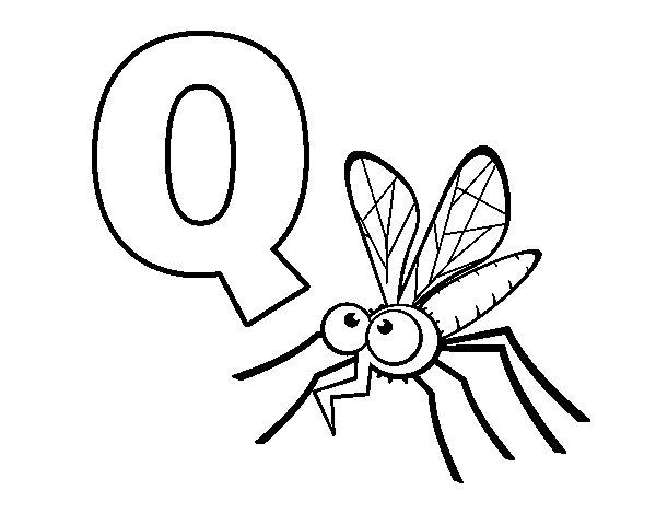 Coloriage de Q de Moustique pour Colorier