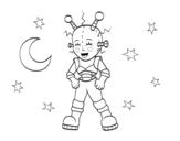 <span class='hidden-xs'>Coloriage de </span>Robot astronaute à colorier