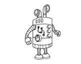<span class='hidden-xs'>Coloriage de </span>robot périscope à colorier