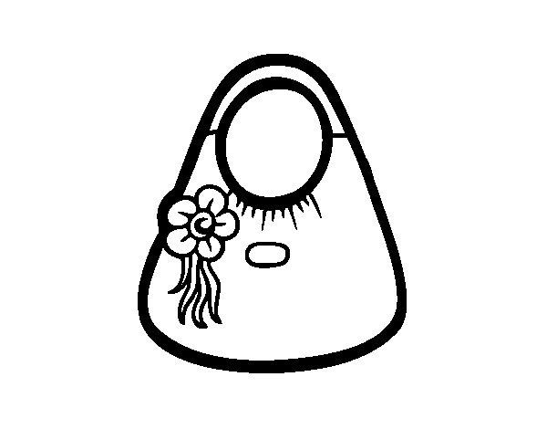 Coloriage de Sac à fleurs pour Colorier