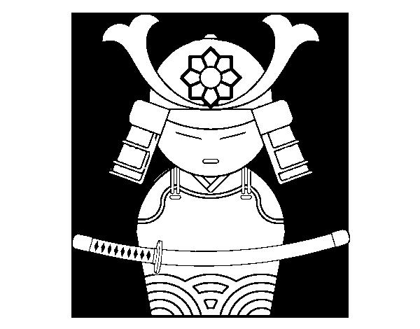 Coloriage de samoura chinois pour colorier - Coloriage chine ...