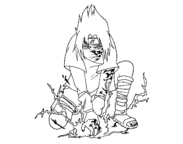 Coloriage de sasuke pour colorier - Coloriage sasuke ...
