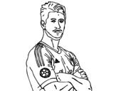 <span class='hidden-xs'>Coloriage de </span>Sergio Ramos à colorier