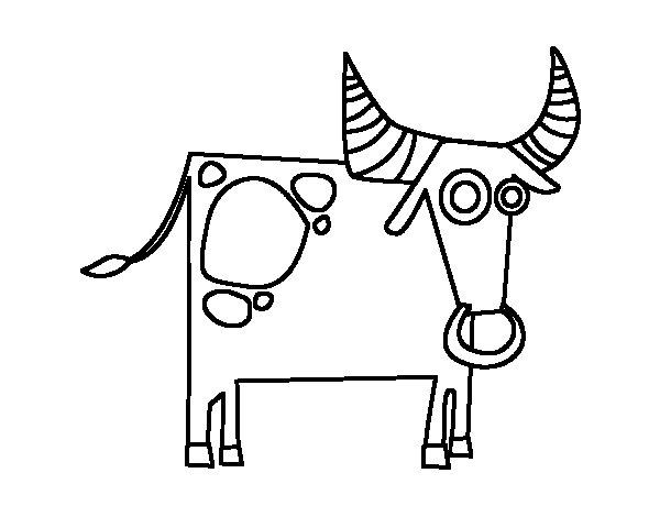 Coloriage de signe astrologique du taureau pour colorier - Dessin de toro ...