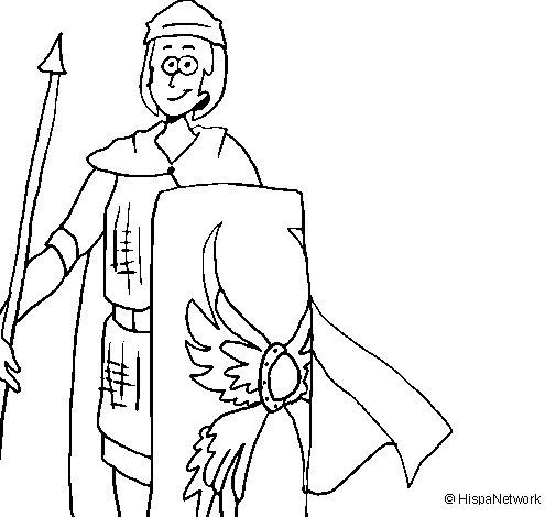 Coloriage de Soldat romain II pour Colorier