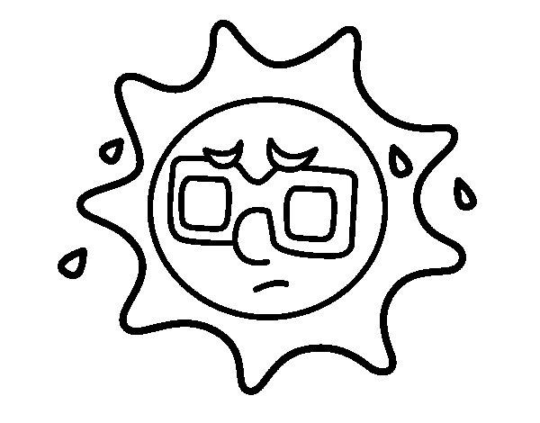 Dibujos Del Sol Para Colorear E Imprimir: Coloriage De Soleil Avec Sueur Pour Colorier