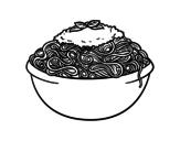 <span class='hidden-xs'>Coloriage de </span>Spaghetti à colorier