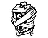 <span class='hidden-xs'>Coloriage de </span>Tête de la momie à colorier