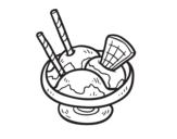 <span class='hidden-xs'>Coloriage de </span>Tasse avec crème glacée à colorier