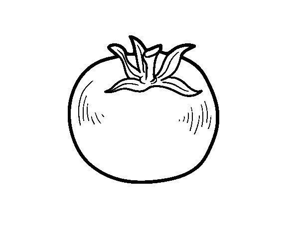 Coloriage de Tomate écologique pour Colorier - Coloritou.com