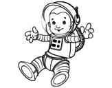 <span class='hidden-xs'>Coloriage de </span>Un astronaute dans l'espace à colorier