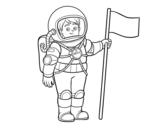 <span class='hidden-xs'>Coloriage de </span>Un astronaute à colorier
