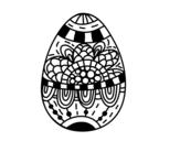 <span class='hidden-xs'>Coloriage de </span>Un oeuf de Pâques floral à colorier