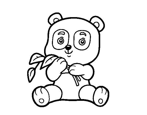 Coloriage de Un panda pour Colorier
