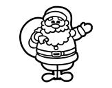 <span class='hidden-xs'>Coloriage de </span>Un Père Noël à colorier