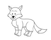 <span class='hidden-xs'>Coloriage de </span>Un renard à colorier