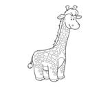 <span class='hidden-xs'>Coloriage de </span>Une girafe africaine à colorier