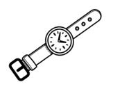 <span class='hidden-xs'>Coloriage de </span>Une montre-bracelet à colorier