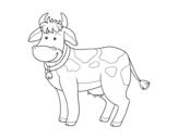 <span class='hidden-xs'>Coloriage de </span>Vache ferme à colorier