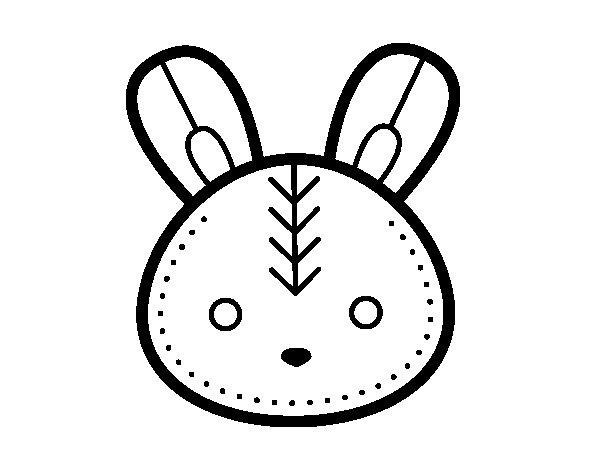 Coloriage de Visage de lapin de Pâques pour Colorier