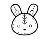 <span class='hidden-xs'>Coloriage de </span>Visage de lapin de Pâques à colorier
