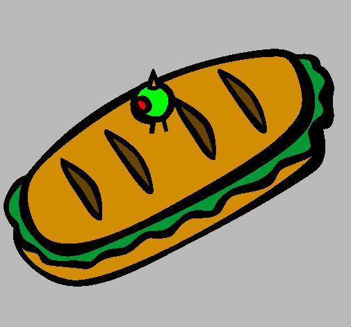 <span class='hidden-xs'>Coloriage de </span>Sandwiches à colorier