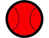 Coloriage Balle de base-ball II colorié par arthur