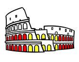 Coloriage Colisée de Rome colorié par ximo