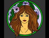 Coloriage Princesse du bois 2 colorié par KAKE