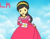 Coloriage Princesse élégante colorié par lomanlou