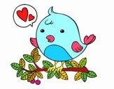 Coloriage Le Twitter oiseau colorié par CHABAUD6