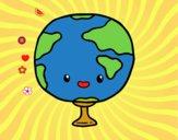 Coloriage Cours de Géographie colorié par ophelie