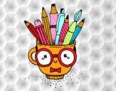 Coloriage Tasse animée avec des crayons colorié par ophelie