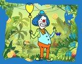 Clown et le ballon