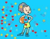 Une joueuse de basket