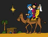 Coloriage Les trois Rois Mages colorié par KAKE2