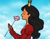 Princesse et rose